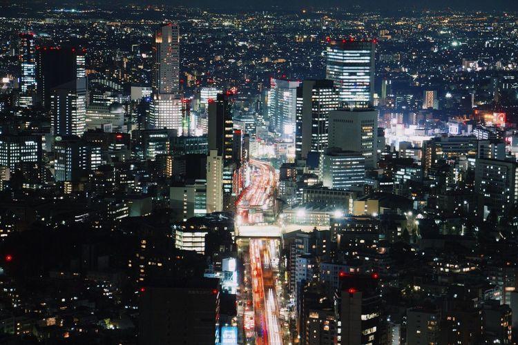 City Night Travel Destinations Building Exterior Urban Road Janpan Urban Shinjuku