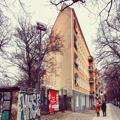 Architecture Berlin Photography Graffiti Kreuzberg Narrow Skalitzer Straße Tree Abstract Altbau Architecture Bare Tree Berliner Ansichten Berlinstagram Building Exterior Built Structure City Day Minimal No People Outdoors Sky Spit Tree Triangle Wrangelkiez