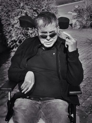 My Oneeyed Wiew Of Things Fûkk Jou! Blackandwhite One of my dearest friends, coolest man alive