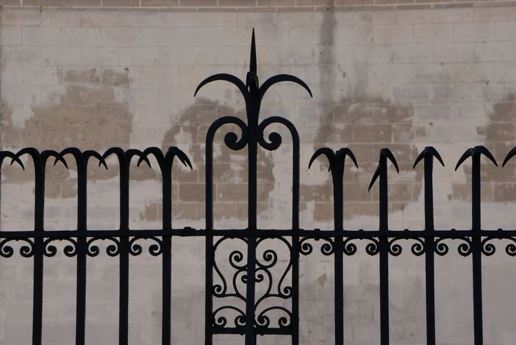Security Metal Protection Wrought Iron Safety Gate Architecture No People Built Structure Outdoors Building Exterior Day Exclusion Close-up Sky Philadelphia Geometric Shapes Urban Exploration Citylife Morning Light Philly Philadelphia Pennsylvania Morning Walk Wrought Iron Design Wrought Iron Gates