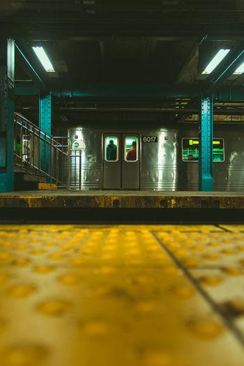 Surface level of empty subway station