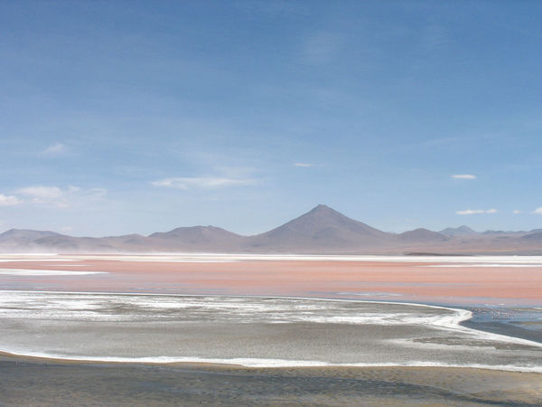 Arid Climate Beauty In Nature Blue Sky Bolivia Day Desert Landscape Mountain Nature No People Outdoors Pastel Pastel Colors Salt - Mineral Salt Flat Salt Lake Scenics Sky Uyuni