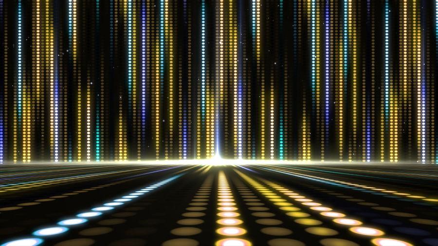 Illuminated lights on dance floor