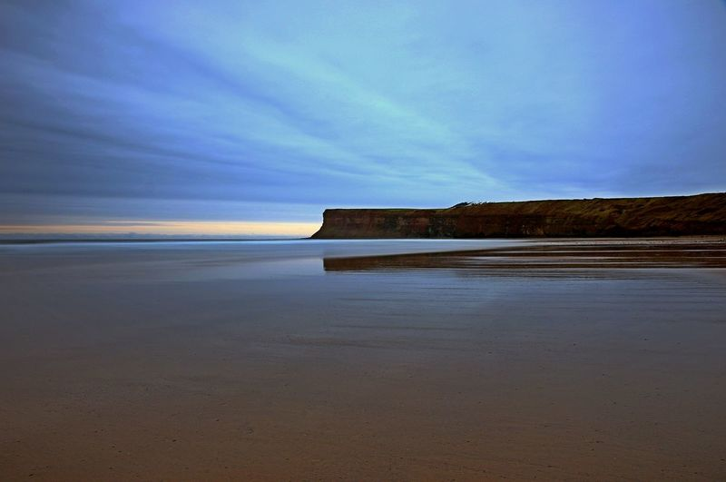 Beach Beauty In Nature Cloud - Sky Day Horizon Over Water Nature No People Outdoors Saltburn Saltburn By The Sea Saltburn Cliffs Scenics Sea Sky Tranquil Scene Tranquility Water