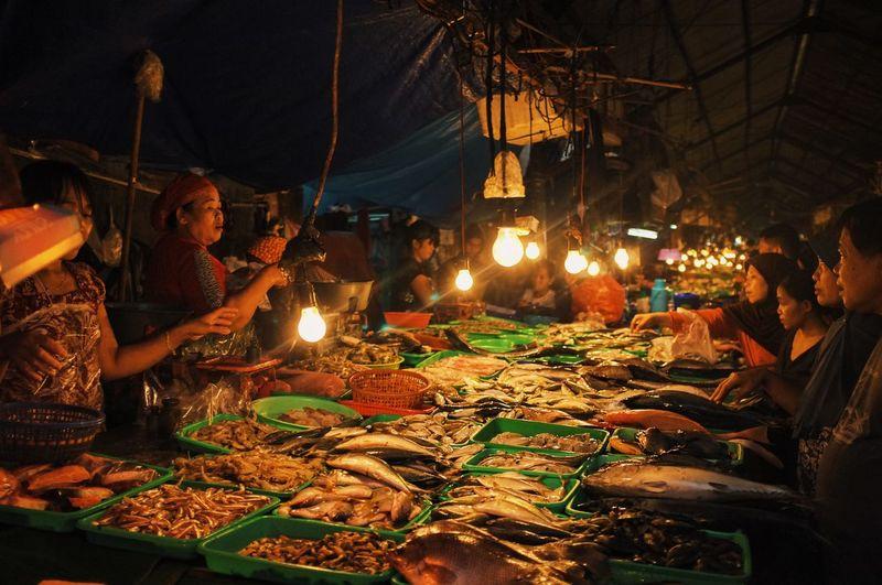 Pasar Minggu Morning Market Traditional Market Lamp Documentary Fujifilm