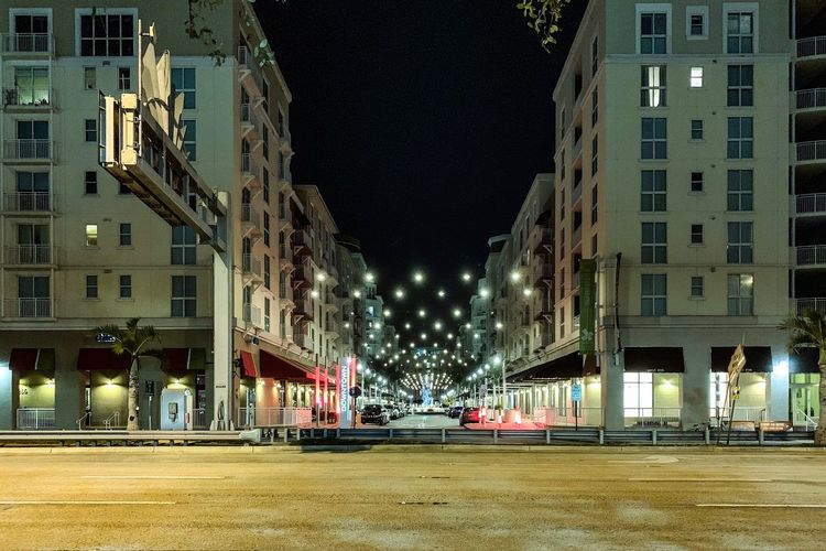 Building Exterior Built Structure Architecture City Transportation Night Building No People Street Residential District City Life City Street Outdoors Illuminated Light