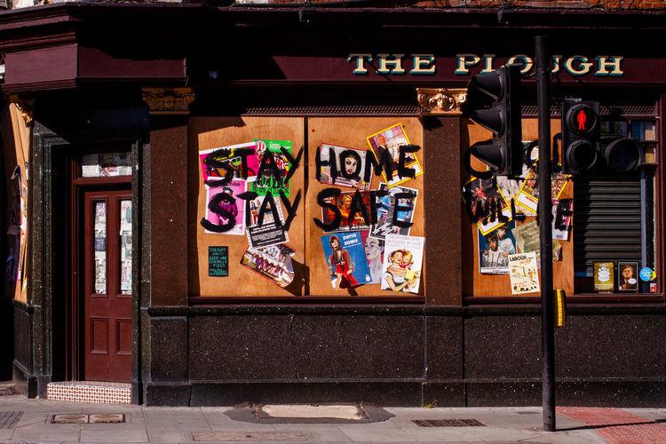 Graffiti on store
