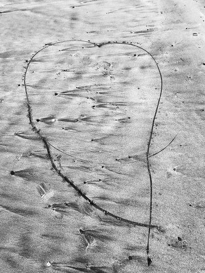 Heartshaped sand Sand Writinginsand Heart Shape