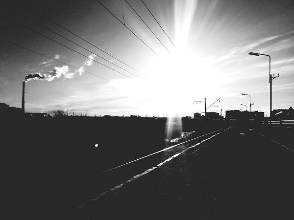 Railway Cityscapes Black & White