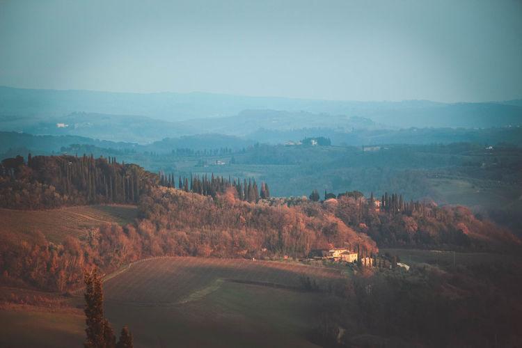 High Angle View Of Mountain Range