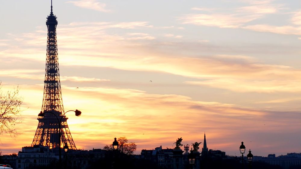 Cloud Sky Sunset Chillout Calm Photographer Sonyalpha Shadow-art Shadow Eiffel Tower Paris Hello World EyeEm Selects Eye4photography  Silhouette City No People Arts Culture And Entertainment Colour Your Horizn