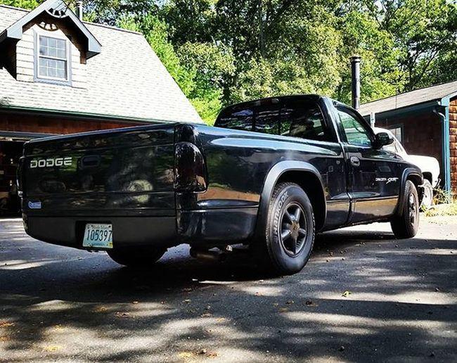 Dodge Dakota  Dodgedakotasport Murdaaa Murder Blackedout Truck Beater Daily AllBlackEverything