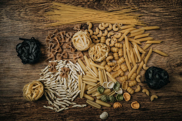 Pasta Close-up Day Directly Above Food Food And Drink Freshness Healthy Eating High Angle View Indoors  Ingredient Italian Food No People Pasta Preparation  Raw Food Spaghetti Table Wood - Material