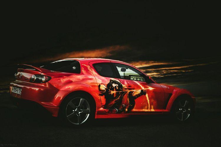 Transportation Mode Of Transport Car Red Dark Mazda Automotive Rx8 Automotive Photography Wheels Aerography
