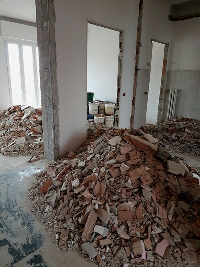 Indoors  Home Interior Home Improvement Total Renovation Home Renovation  Rubble Building Interior Abatement Walls Demolition Walls Home Refurbishing More Space Down Walls Construction Company Interior Architecture Interior