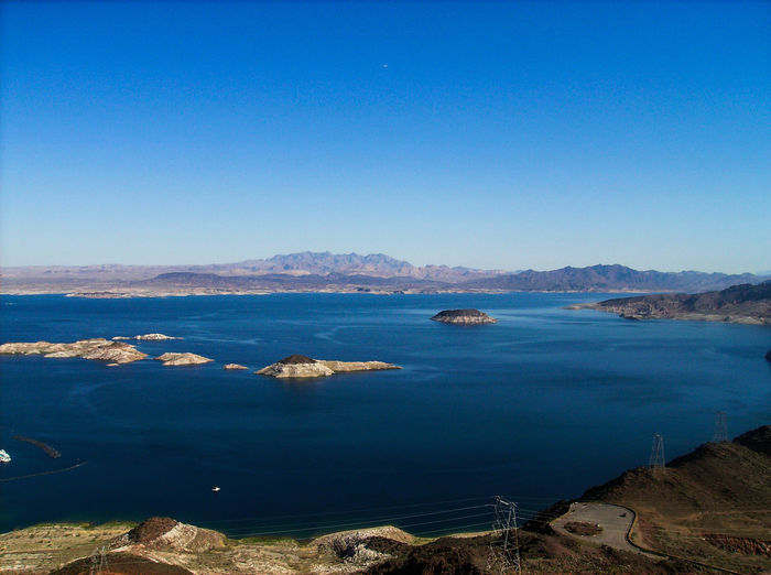 HOOVER DAM Thats Blue. Hoover Dam Lake View Lake Blue Blue Lake Desert Landscape Landscape_Collection GOD Bless You Gods Beauty Islands Colorsplash Mountains