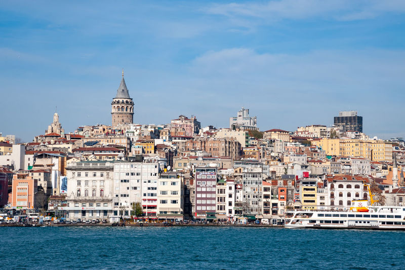 Galata district in Istanbul Galata Tower Istanbul Turkey Architecture Bosphorus Building Exterior Built Structure City Cityscape Galata Residential District Travel Travel Destinations Water Waterfront