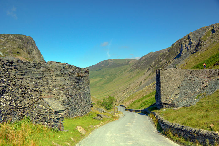 Honister Honister Slate Mine Beauty In Nature Clear Sky Honister Pass Honisterpass Landscape Mountain Mountain Range Mountain Road Road Winding Road