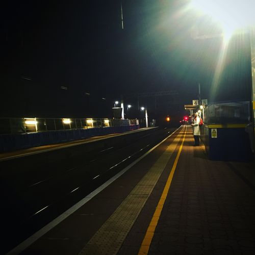 London Train Station Ealing Commuter Winter
