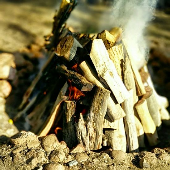 Starting the Temazcal Fire