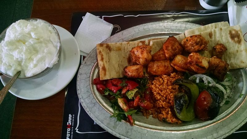 Restaurant Food And Drink Kabob Salad Dough Bread