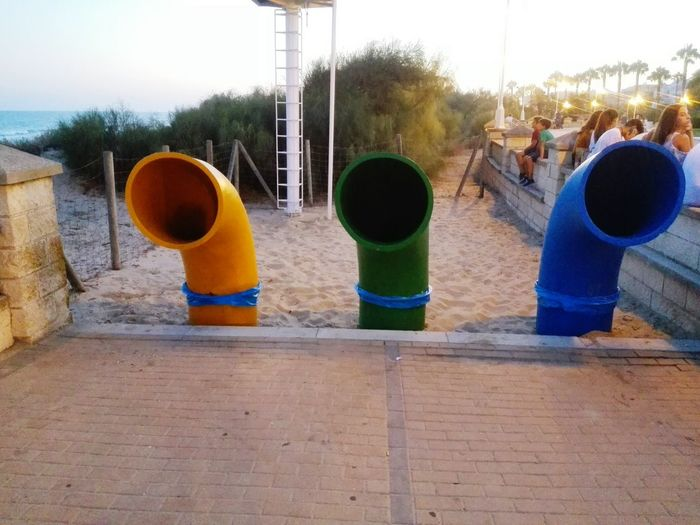 Recycling Recycle Beach Recycle Playa Color Color Tubes Tubes