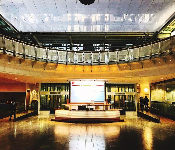Architecture Indoors  Modern Built Structure Illuminated Capture Berlin Charlottenburg  Berlin IPhone7Plus