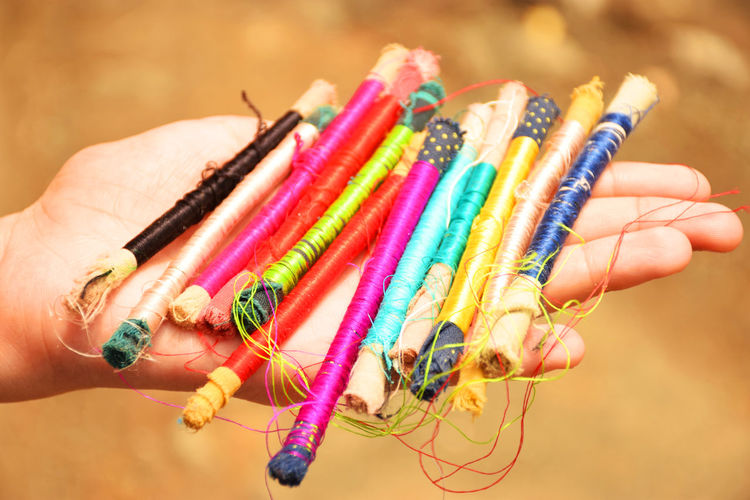 Silk Silk Threads EyeEm Best Shots Eyeemawards2018 Aurangabaad Colors Human Hand Multi Colored Choice Arts Culture And Entertainment Variation Close-up Art Love Is Love EyeEmNewHere