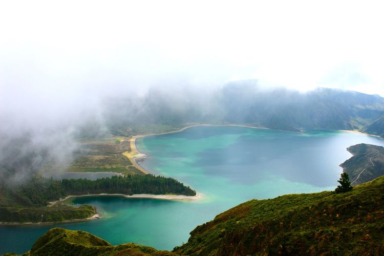 Volcanic  Lake Mist Fairy Land Nature Scenics Beauty In Nature Tranquil Scene Water Tranquility Mountain EyeEmNewHere