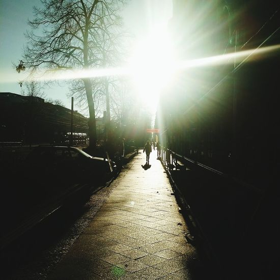 Sunlight Real People Sunbeam Sun Sky The Way Forward Outdoors Day One Person People Berlino Berlin Clear Sky Berlin Photography City