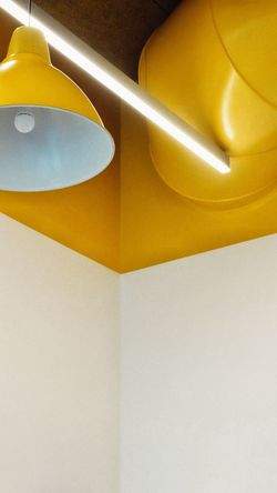 No People Textured  Yellow Indoors  Corners And Edges IKEA Pipe - Tube Celing Celing Light Celing Art Architecture Modern Office Design Lightbulb Chandelier Backgrounds Full Frame Close-up Day Wall Wall Textures Paint The Town Yellow