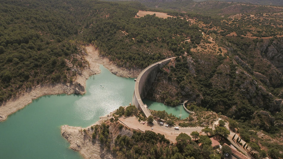 Arial Shot Drone Shots Seen Staudamm Beauty In Nature Built Structure Dam Dji Global Dronephotography High Angle View Hydroelectric Power Landscape Mountain Nature Outdoors River Scenics See Staudämme Wasser Water