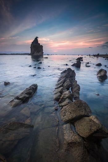 Sunset Sea Rock
