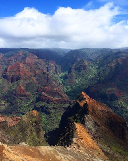 Beauty In Nature Mountain Nature Sky Landscape Outdoors Mountain Range Travel Destinations Sun Hawaii
