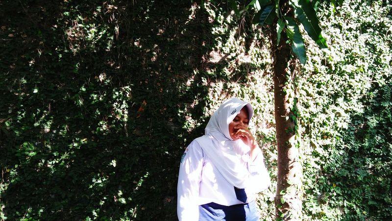 Tree Standing Portrait Flowerbed Hijab First Eyeem Photo