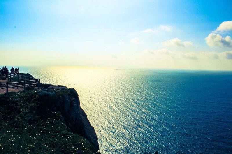 The Journey Is The Destination Cabo Da Roca See The World Through My Eyes MyPhotography Picoftheday Sea And Sky Endlessness All Shades Of Blue Eyemphotography Eye4photography  Pictureoftheday Cliff Photooftheday Sunny Day The Great Outdoors - 2017 EyeEm Awards The Great Outdoors - 2017 EyeEm Awards Breathing Space