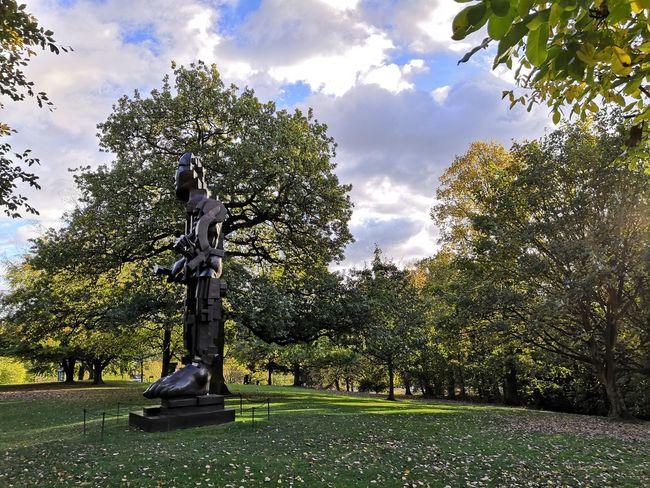 Yorkshire Sculpture Park Autumnal Leaves Autumn colors Tree Statue Sculpture Sky Cloud - Sky