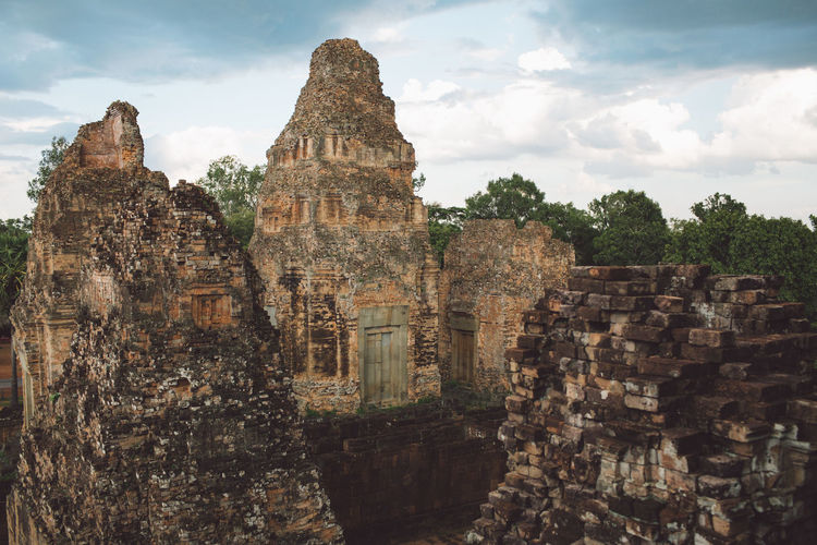 Siem Reap Cambodia Angkor Built Structure History Sky Cloud - Sky Architecture The Past Ancient Travel Travel Destinations Place Of Worship Tourism Building Exterior Nature Old Ruin Religion No People Building Day Old Ancient Civilization Outdoors Ruined Archaeology