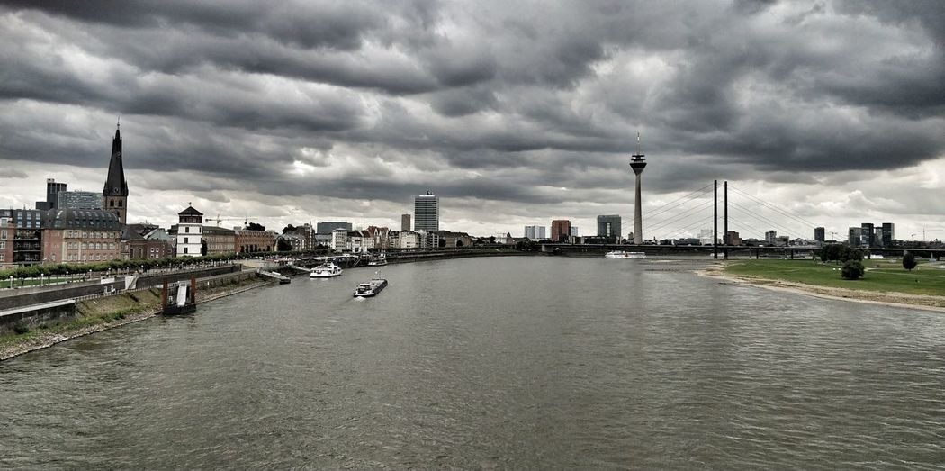Cloud - Sky City Düsseldorf Travel Destinations Outdoors Day Water Taking Photos ❤ Tranquility Eyeemphotography