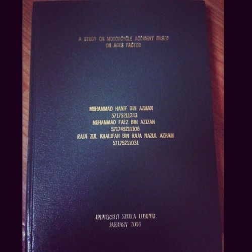 Hard cover thesis . Yeahhh .