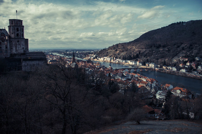 caption this. Heidelberg Castle Home Quality Architecture Beauty In Nature Bridge Building Exterior Built Structure City Cloud - Sky Day Mountain Nature No People Old Outdoors Sea Sky Travel Destinations Tree Water EyeEmNewHere
