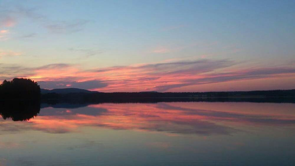 Summernight at Lake flastasjon in Sweden Fishing Zander Clear Sky Middle Of Sweden Evening Sunset Reflections Pastel Power Hälsingland Landscapes With WhiteWall Outdoors Solitude Water Tranquil Scene Tranquility Scenics Waterfront Sky Beauty In Nature Cloud Reflection Non-urban Scene