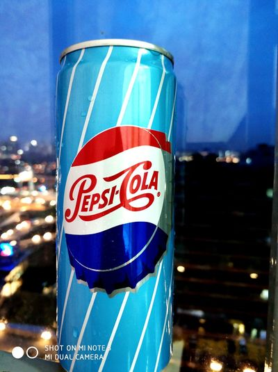 Pepsi Pepsi-Cola Pepsi Cola Pepsicola PEPSI COLLECTOR SERIES Blue Illuminated Red Close-up Sky Architecture Building Exterior