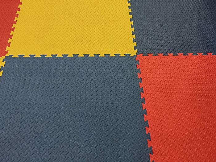Full frame shot of multi colored flooring