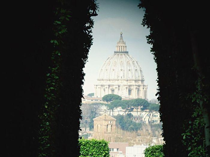 Historic St Peter Basilica Against Sky
