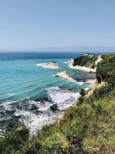 Cape Drastis, Korfu #Corfu Water Land Outdoors Idyllic No People Nature Clear Sky