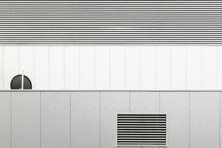 Architecture Built Structure White Color Wall - Building Feature No People Pattern Technology Indoors  Air Duct Black Color Copy Space Backgrounds Closed Locker Geometric Shape Day Security Full Frame