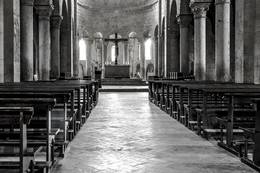 Abbazia di Sant'Antimo, Siena, Tuscany, Italy Abbey Church Italia Italie Italy Jesus Kostel Monochrome Siena Toscana Toskansko Tuscany