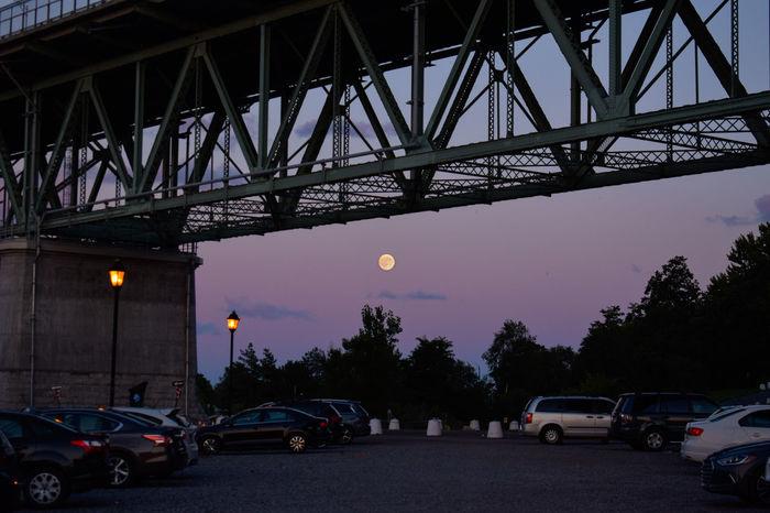 Under the bridgeBridge - Man Made Structure Connection Sky Night Architecture City Moon Astronomy Eyem Week The Week On EyeEm