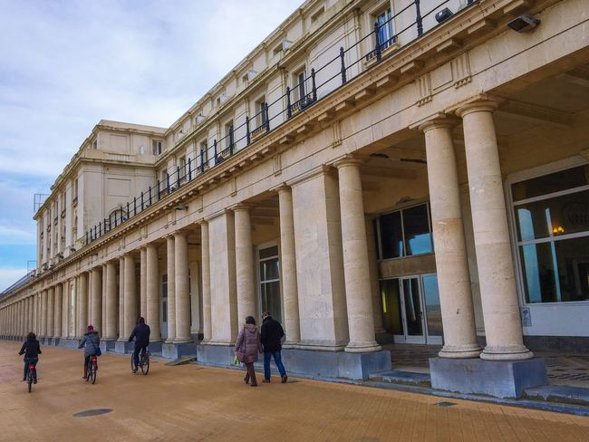 Thermae Palace Hotel, Ostend Architecture Architectural Column Built Structure Building Exterior Hotel Columns Travel Destinations Real People Tourism History Sky Day Large Group Of People Outdoors Cultures People Ostend Belgium